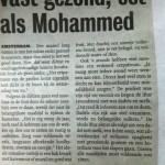 Vast gezond, eet volgens Mohammed